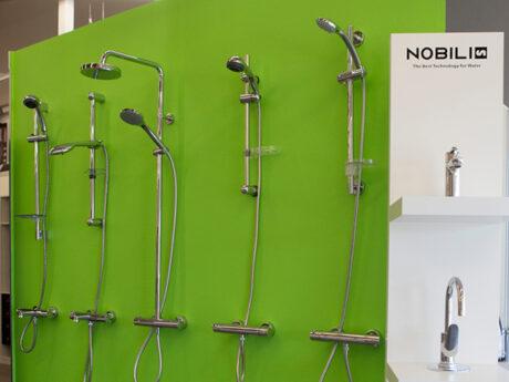 robinetterie showroom saint meen le grand queguiner materiaux