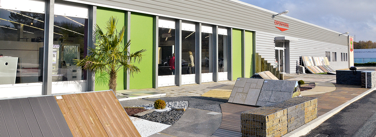 amenagement exterieur showroom morlaix queguiner materiaux