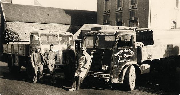 ancien camion queguiner materiaux